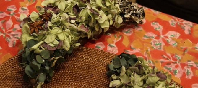 三日月のアロマが香るリースをつくる*モノを作るってやっぱりおもしろい