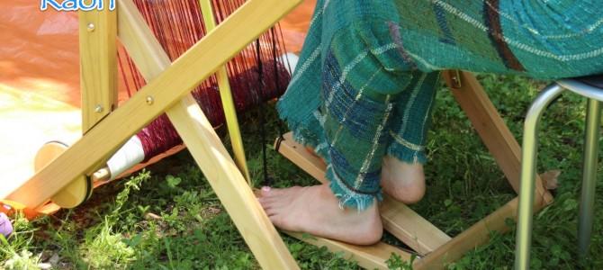 野外でのさをり織りを撮らせていただきました*写真のお仕事